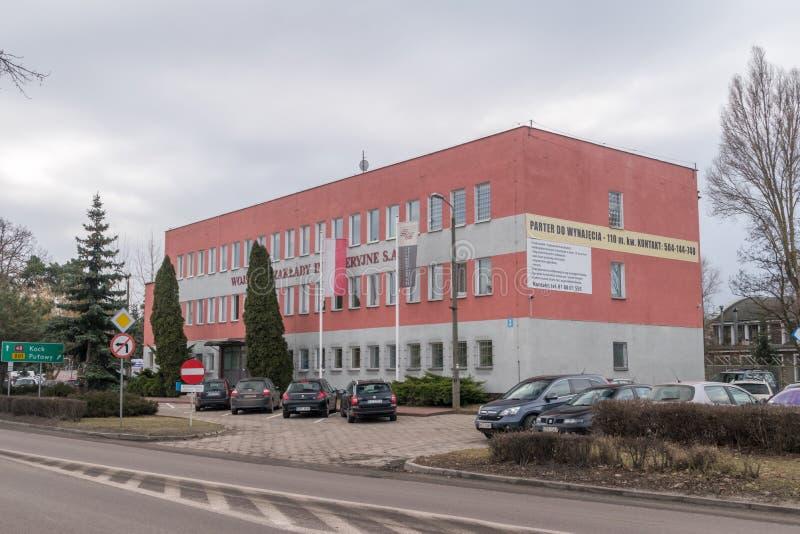 Oficina del polaco polaco de las instalaciones el dirigir militar: Wojskowe Zaklady Inzynieryjne fotografía de archivo libre de regalías