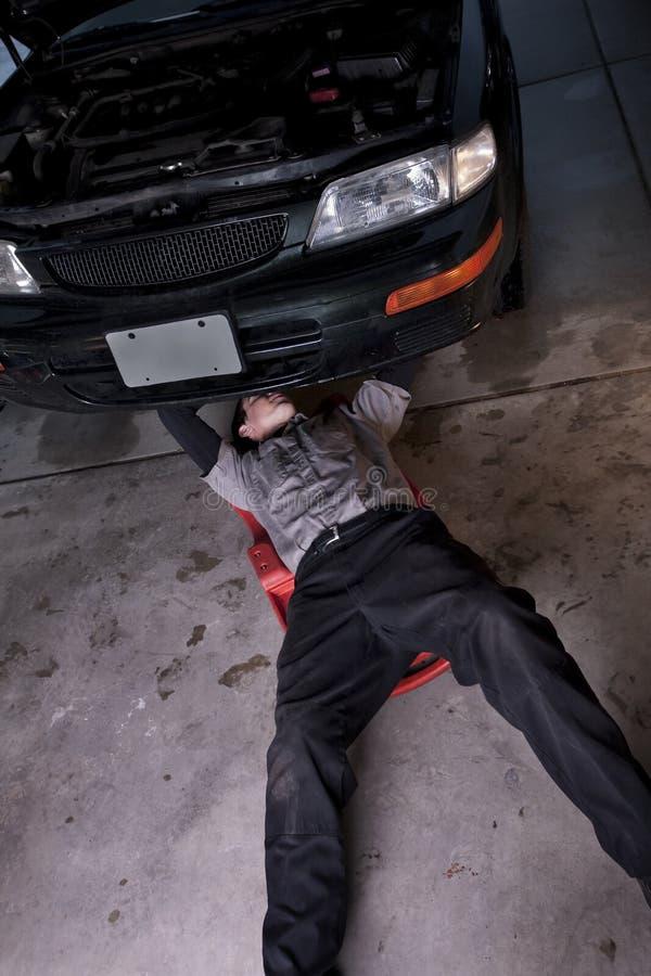 Oficina do auto reparo fotografia de stock