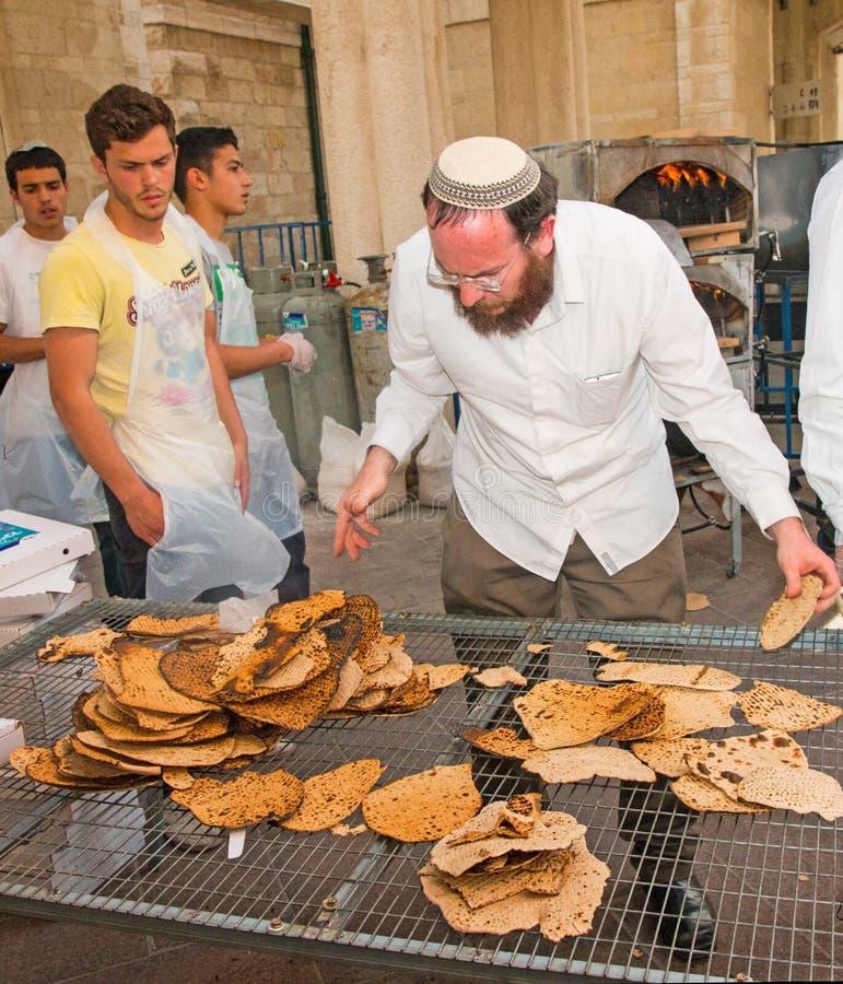 Oficina do cozimento do Matzah fotografia de stock royalty free