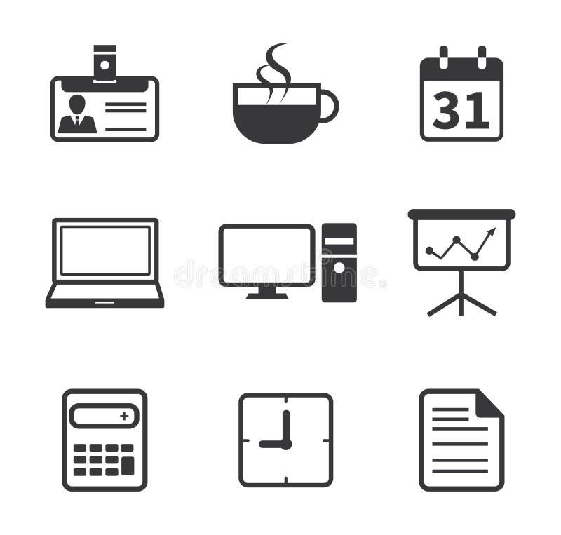 Oficina e icono del negocio stock de ilustración