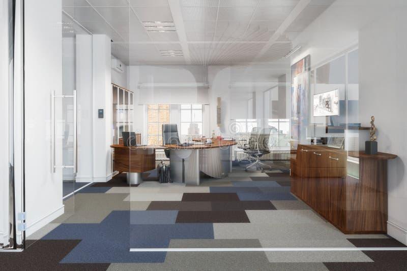 Oficina ejecutiva elegante 01 stock de ilustración