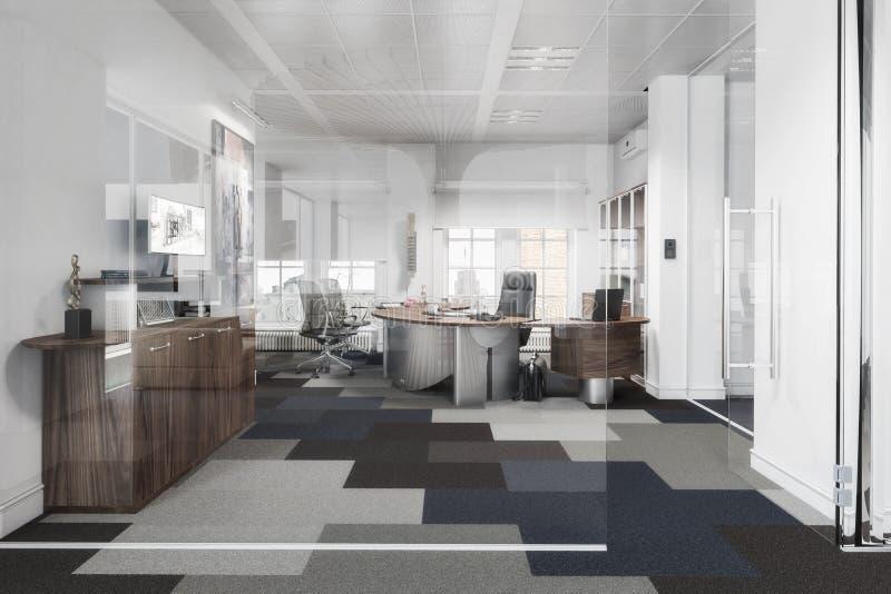 Oficina ejecutiva elegante 01 ilustración del vector