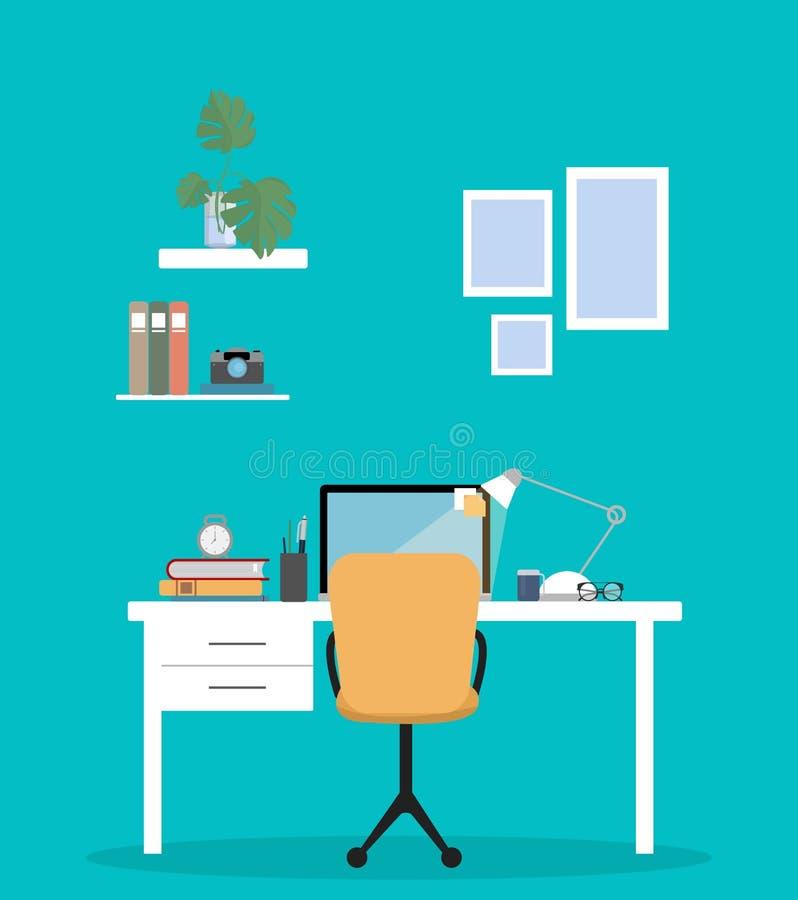 Oficina en el país ilustración del vector