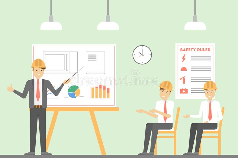 Oficina en la fábrica libre illustration