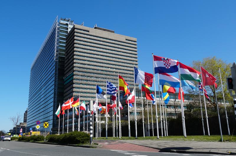 Oficina Europea de Patentes en Rijswijk, los Países Bajos fotografía de archivo libre de regalías