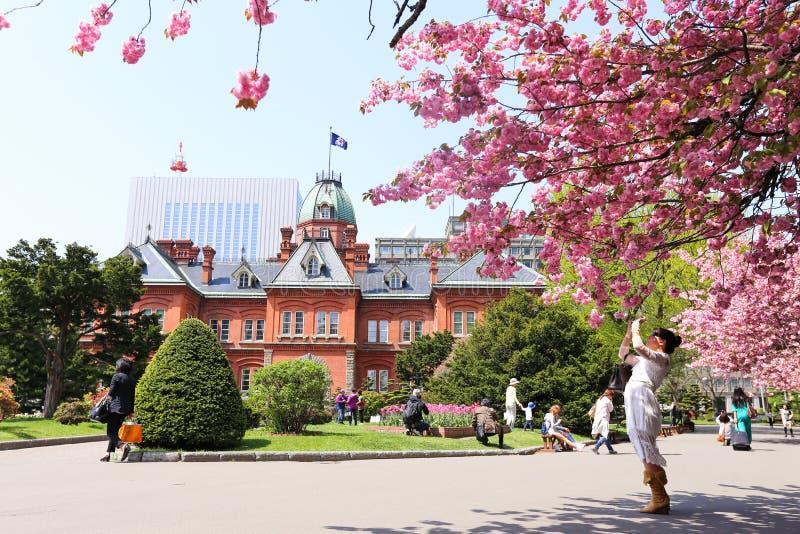 Oficina gubernamental anterior de Hokkaido foto de archivo