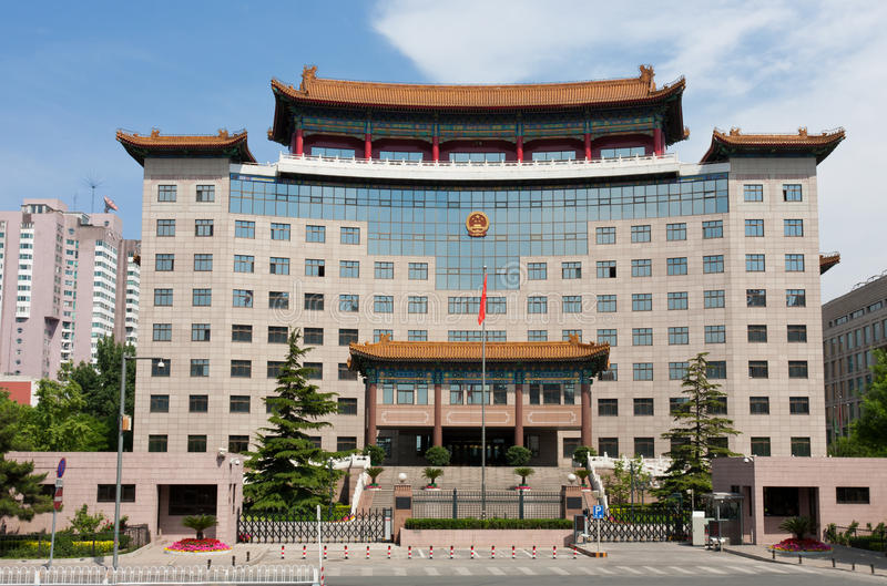 Oficina gubernamental china típica imagenes de archivo