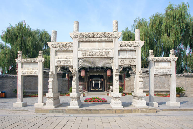 Oficina gubernamental de China feudal foto de archivo