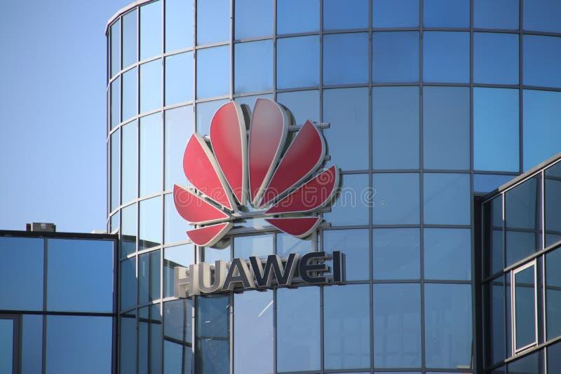 Oficina holandesa del fabricante de equipamiento chino Huawei de las telecomunicaciones en Voorburg los Países Bajos imagen de archivo libre de regalías