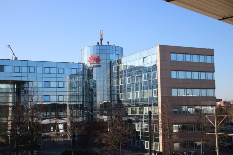 Oficina holandesa del fabricante de equipamiento chino Huawei de las telecomunicaciones en Voorburg los Países Bajos imagen de archivo