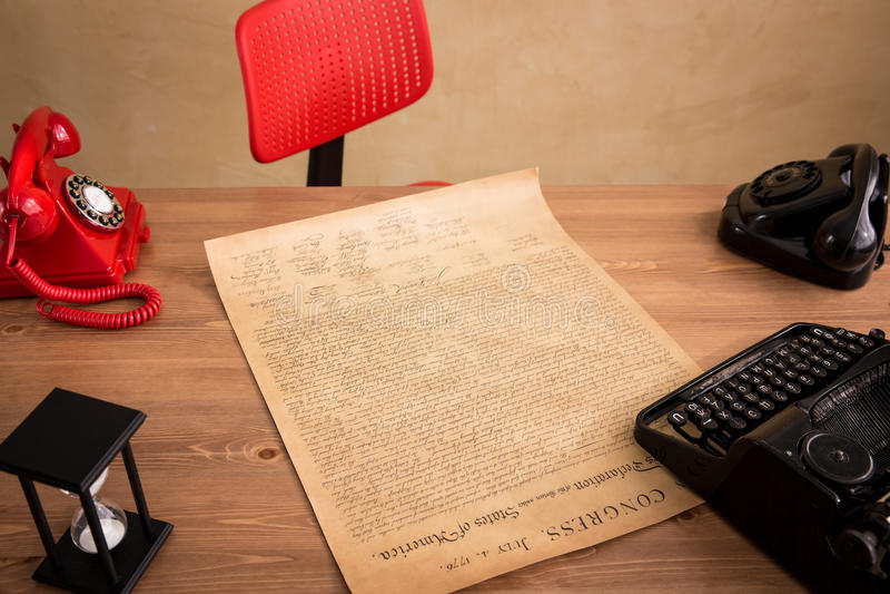 Oficina moderna del desván imagen de archivo libre de regalías