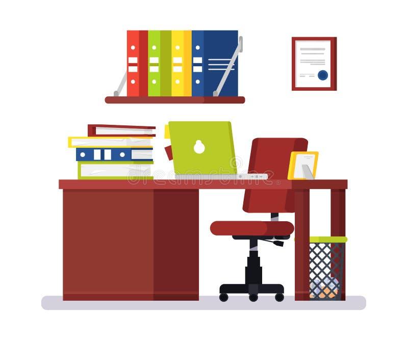 Oficina moderna grande con grande stock de ilustración