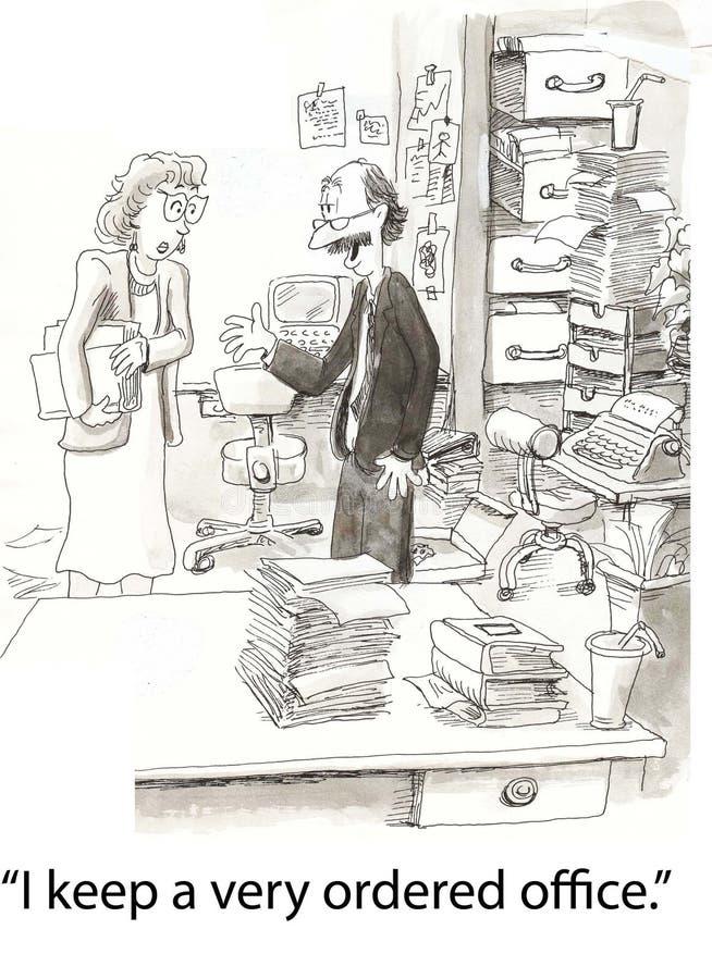 Oficina pedida stock de ilustración