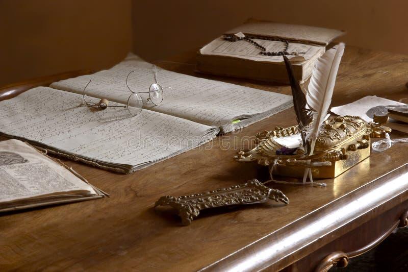 Oficina privada pasada de moda imágenes de archivo libres de regalías