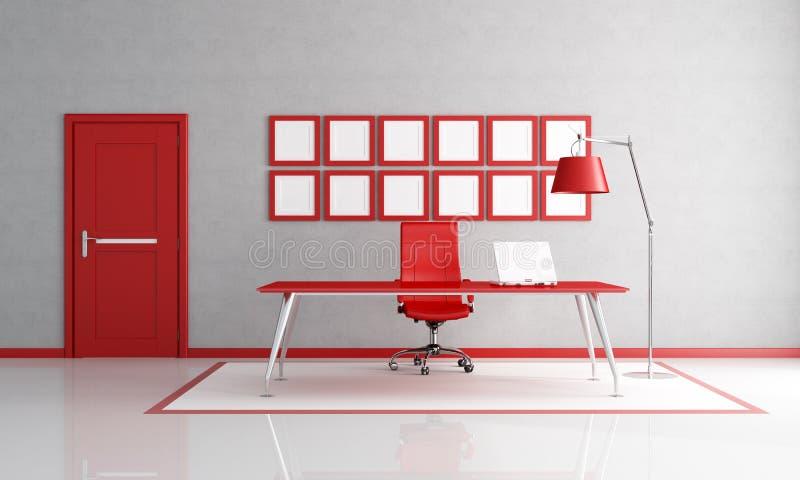 Oficina roja ilustración del vector