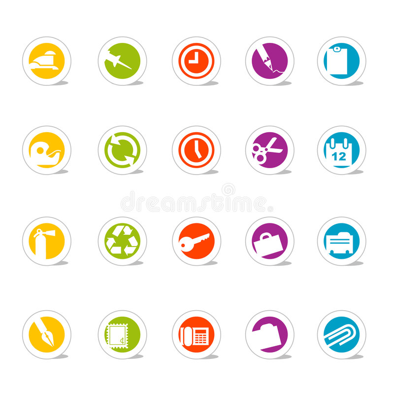 Oficina simple de los iconos (vector) libre illustration