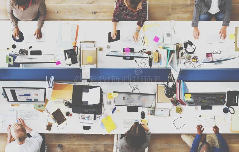 Oficina Team Working Togetherness Workplace Concept imagenes de archivo