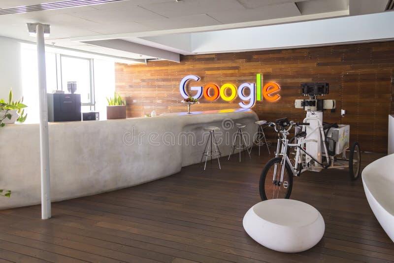 Oficina Tel Aviv, Israel de Google imagenes de archivo