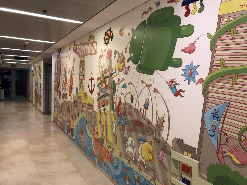 Oficina Tel Aviv, Israel de Google imagen de archivo libre de regalías