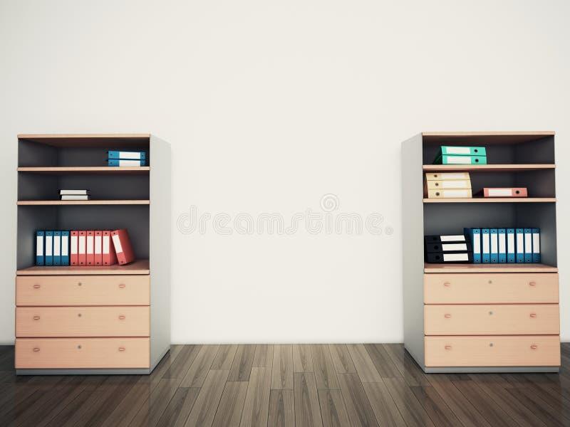 Oficina vacía de la pared ilustración del vector