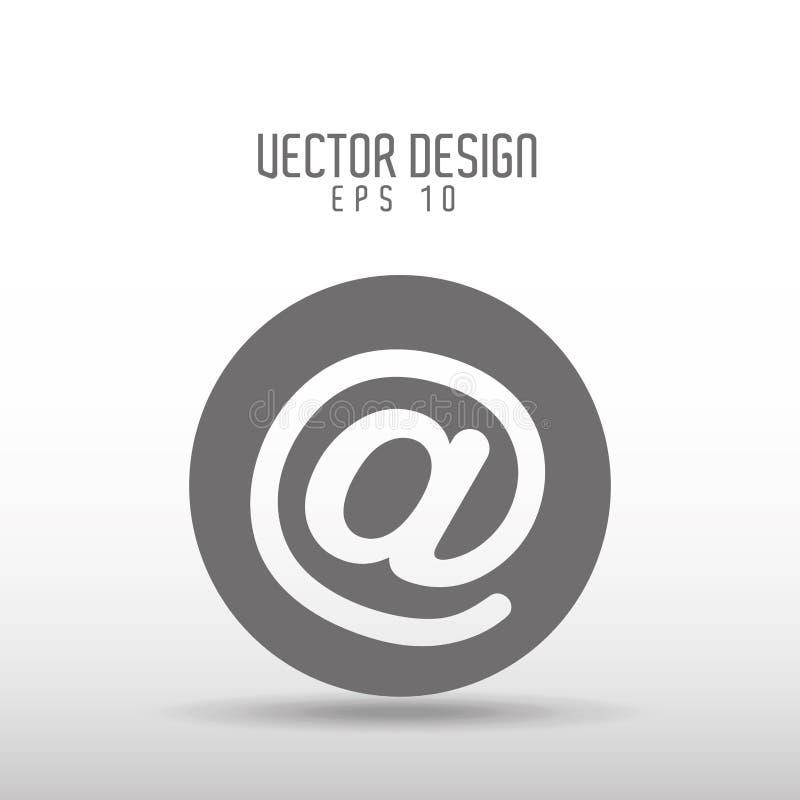 oficina y diseño del icono del negocio stock de ilustración