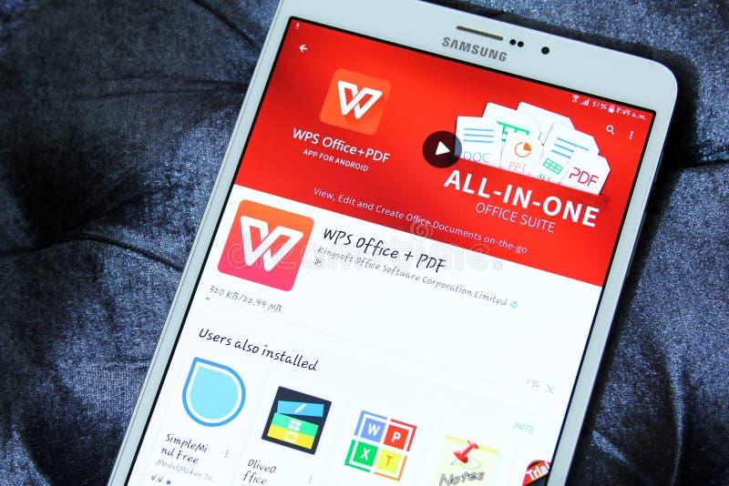 Oficina y pdf app de Wps foto de archivo libre de regalías