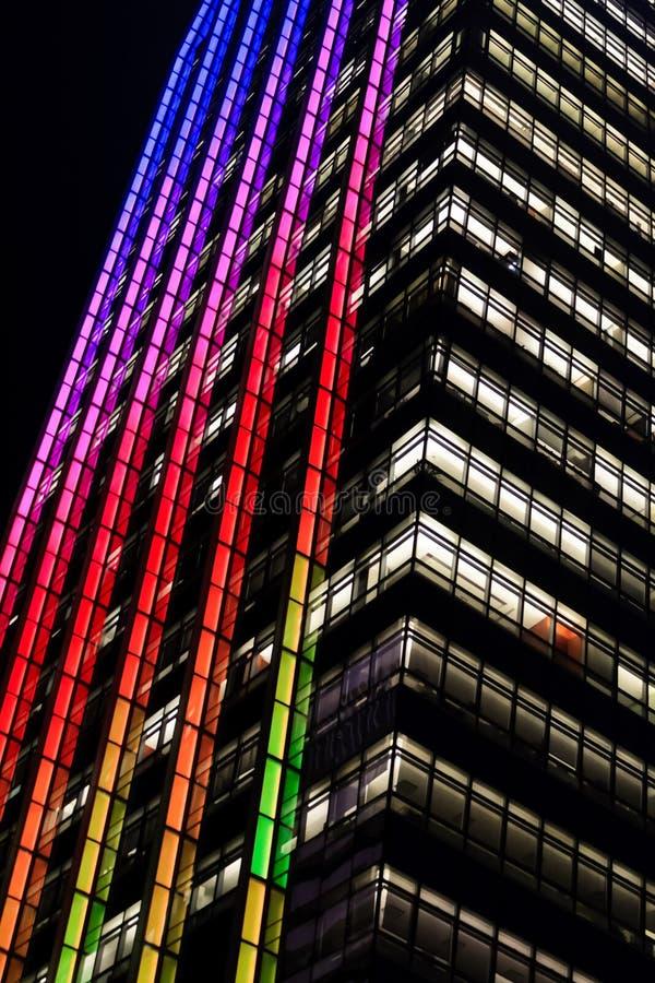 Oficinas del arco iris foto de archivo