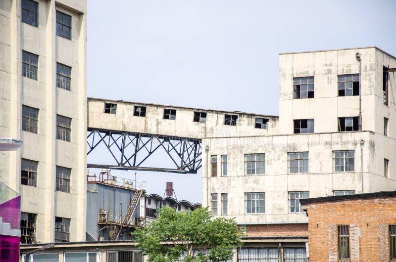 Oficinas e construções das fábricas imagens de stock