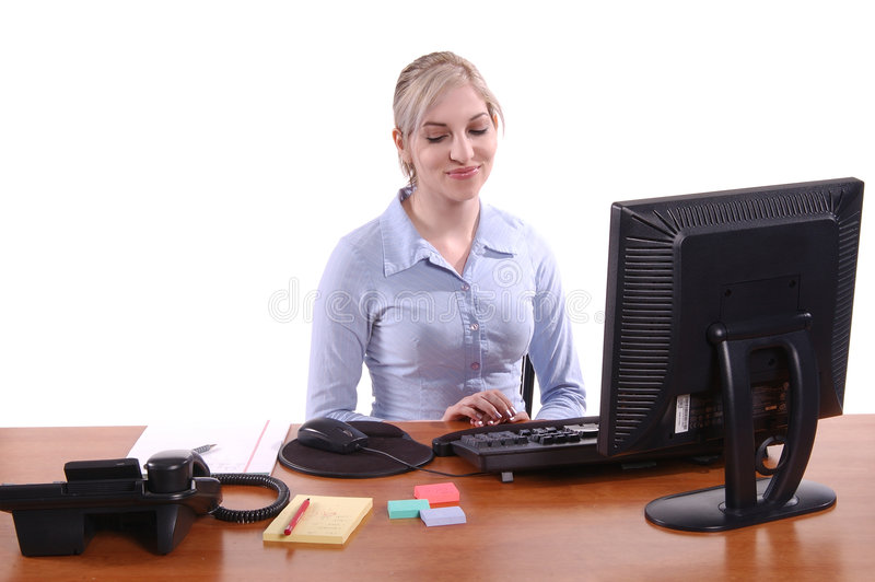 Oficinista foto de archivo