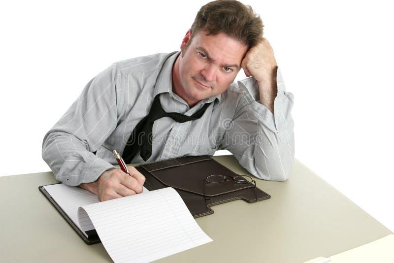 Oficinista - contrariedad fotografía de archivo