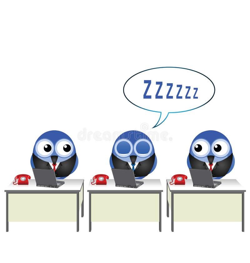 Oficinista dormido libre illustration