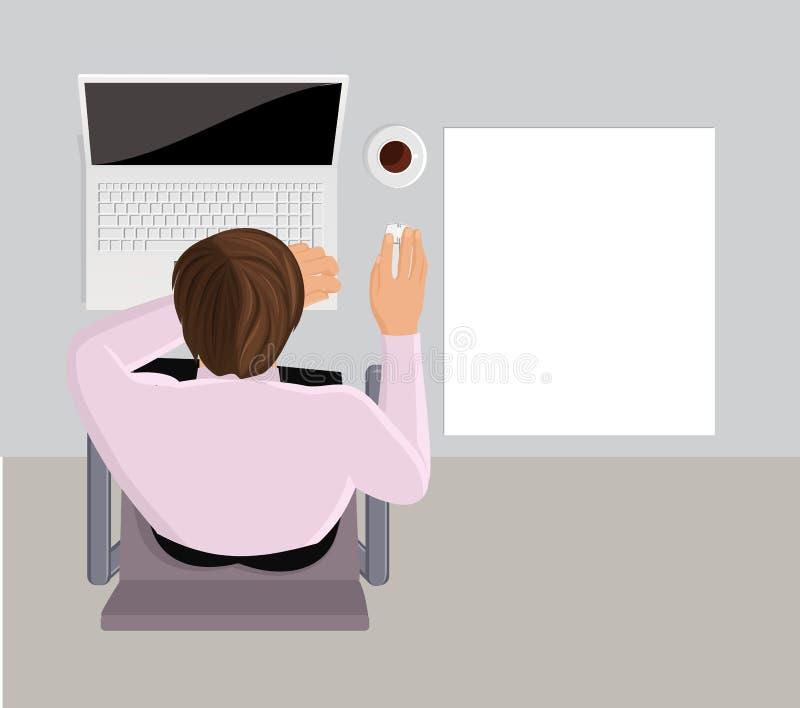 Oficinista durmiente libre illustration