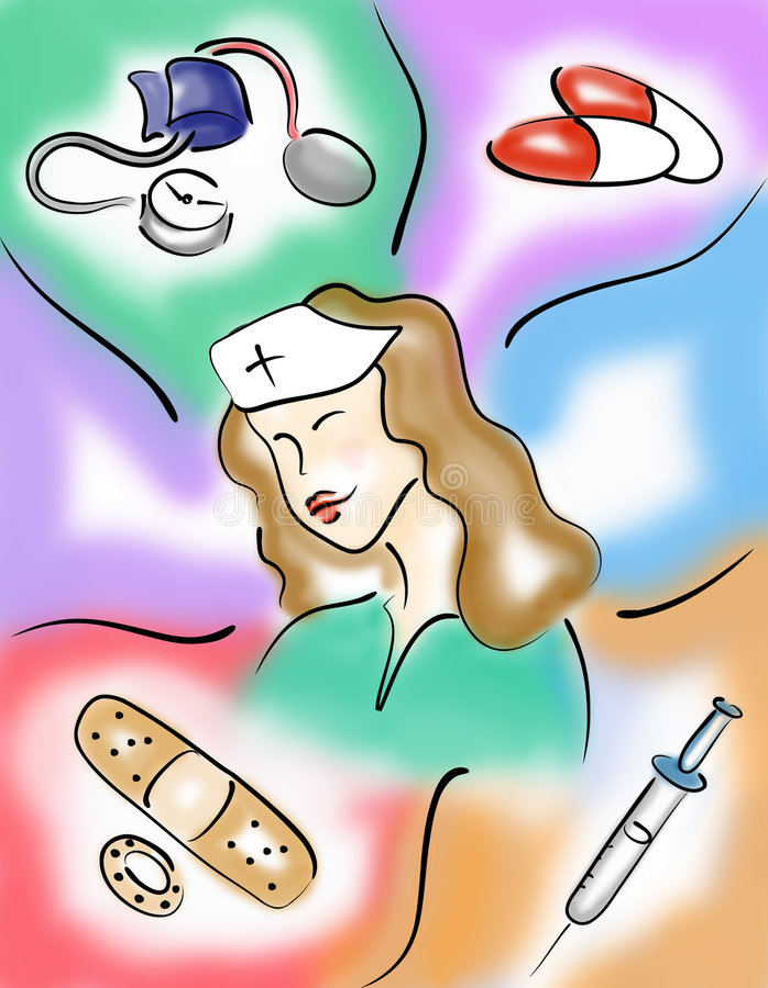 Oficio de enfermera ilustración del vector
