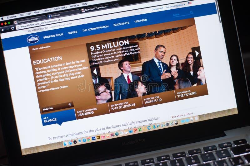 Oficjalna strona internetowa Biały dom obraz stock
