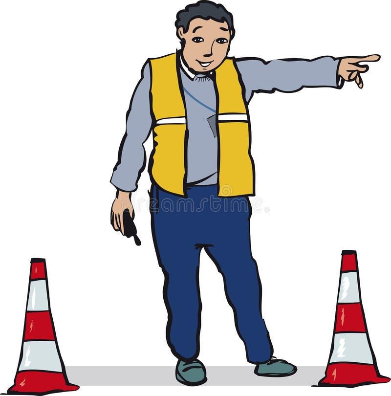 Oficjalny naczelnikostwo ruch drogowy ilustracji