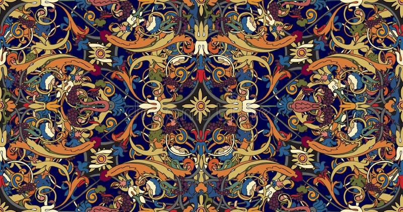 OfPersian prydnad f?r s?ml?s modell Blom- barock modell f?r tappning, italiensk perser royaltyfri illustrationer