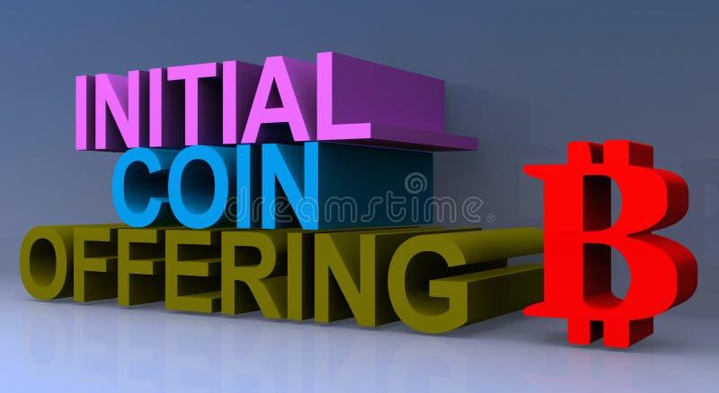 Ofrecimiento inicial de la moneda stock de ilustración