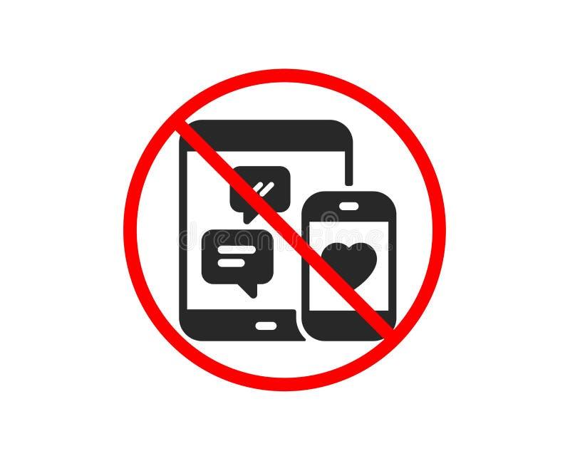 Ogólnospołeczna medialna wiadomości ikona ruchome urządzenia wektor ilustracji