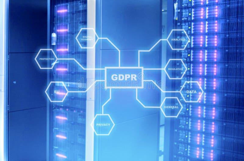 Ogólnych dane ochrony GDPR Przepisowy pojęcie royalty ilustracja