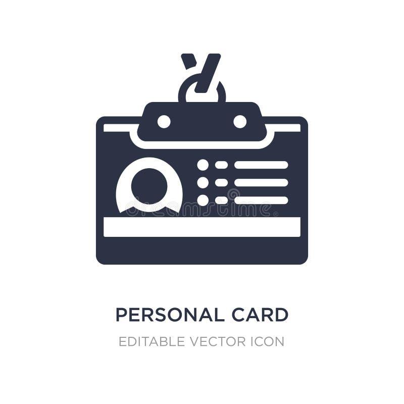 ogłoszenie towarzyskie karta kontaktowa dane ikona na białym tle Prosta element ilustracja od Biznesowego pojęcia ilustracja wektor