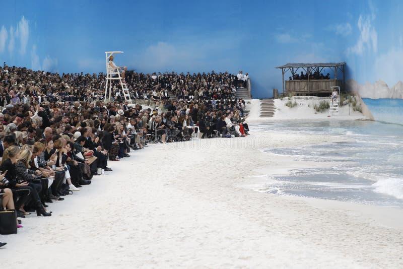 Ogólna atmosfera podczas Chanel przedstawienia jako część moda tygodnia Womenswear wiosny, lata 2019 Paryskich/ obrazy royalty free