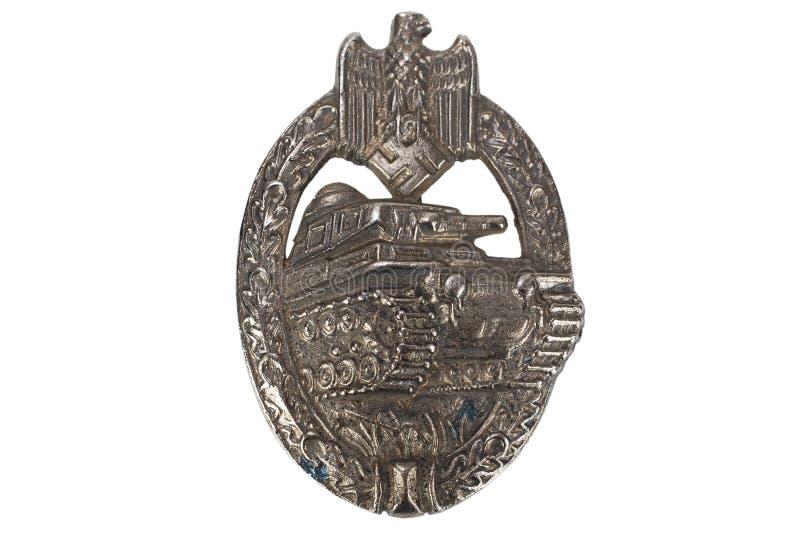 Ogólna Cysternowa napad odznaka - niemiecka nazista nagroda na SS kamuflażu mundurze obraz royalty free