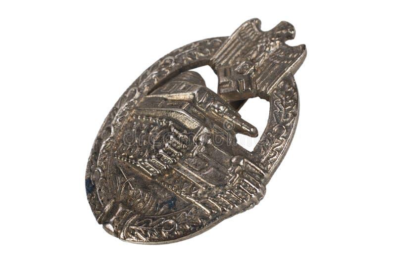 Ogólna Cysternowa napad odznaka - niemiecka nazista nagroda na SS kamuflażu mundurze obraz stock