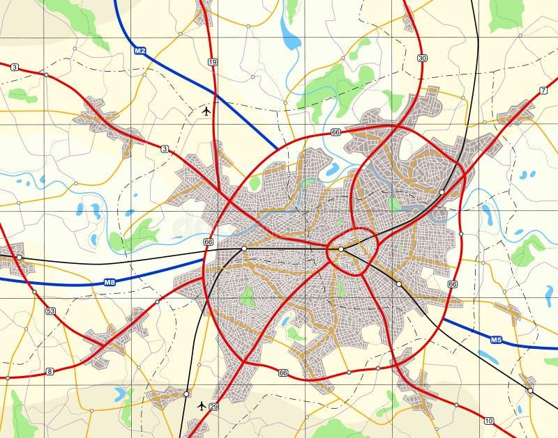 ogólna mapa miasta royalty ilustracja
