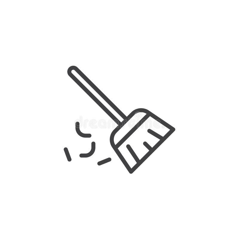 Ogólna miotła konturu ikona ilustracji