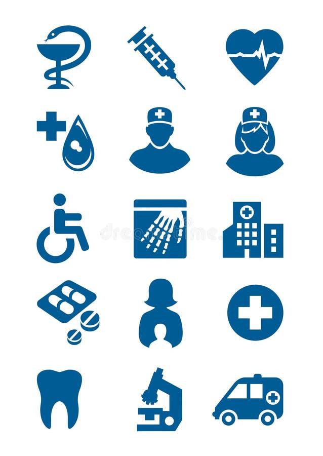 Ogólne medyczne ikony ilustracja wektor