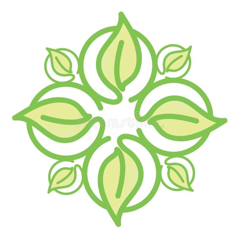 Ikony zieleni liście ilustracja wektor