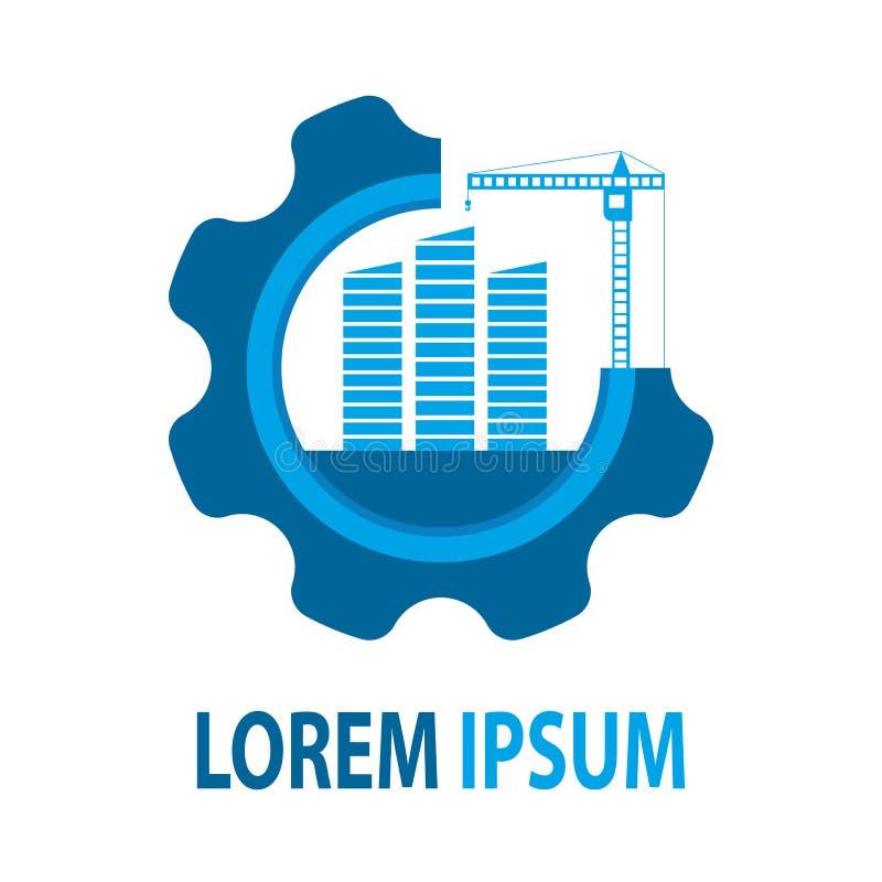 Ogólnoludzki logo dla firmy budowlanej fotografia stock