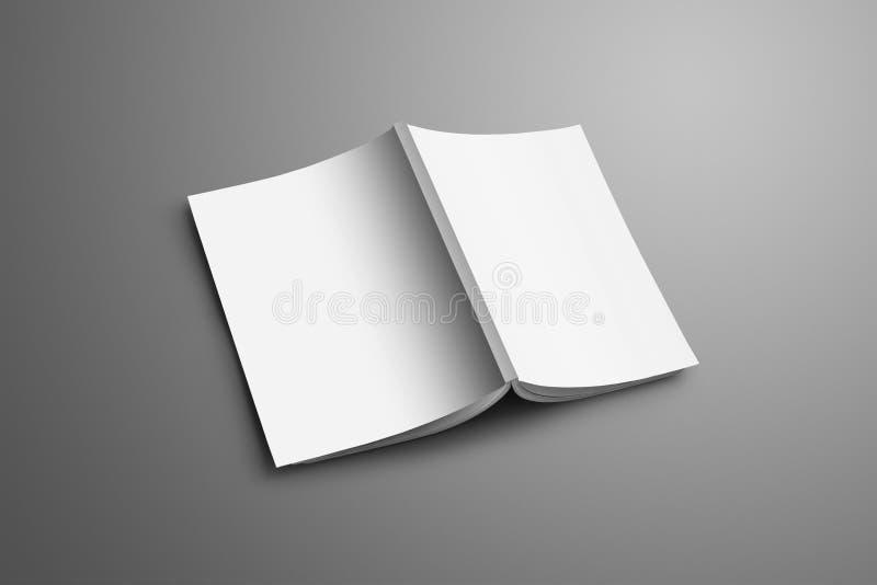 Ogólnoludzki puste miejsce A4, A5 katalog z miękkim realistycznym cienia iso ilustracja wektor
