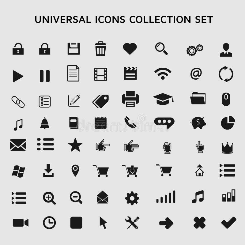 Ogólnoludzkie ikony inkasowe ilustracja wektor